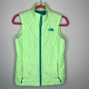 The North Face Tamburello Neon Green Vest Size XS